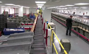 automated book sorter at New York Public Library