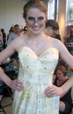 dress made of library card catalog