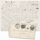 Letter from Mark Twain to Olivia Clemens, April 26, 1877, from Baltimore