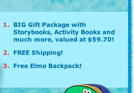Big Gift Package with Storybooks, Activity Books and much more, valued at $59.70!